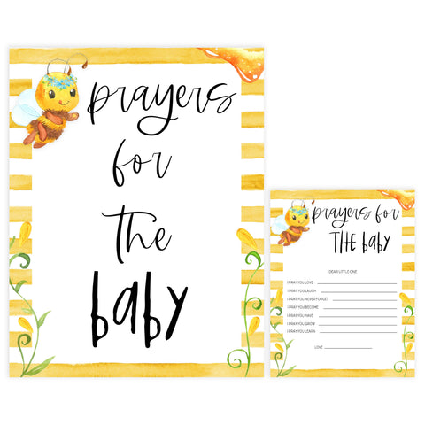 prayers for the baby keepsake, Printable baby shower games, mommy bee fun baby games, baby shower games, fun baby shower ideas, top baby shower ideas, mommy to bee baby shower, friends baby shower ideas