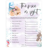 the price is right baby game, Printable baby shower games, little mermaid baby games, baby shower games, fun baby shower ideas, top baby shower ideas, little mermaid baby shower, baby shower games, pink hearts baby shower ideas