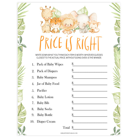 baby shower price is right game, baby price is right, Printable baby shower games, safari animals baby games, baby shower games, fun baby shower ideas, top baby shower ideas, safari animals baby shower, baby shower games, fun baby shower ideas
