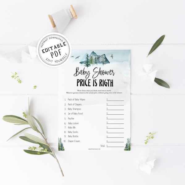 editable price is right baby shower game, Printable baby shower games, adventure awaits baby games, baby shower games, fun baby shower ideas, top baby shower ideas, adventure awaits baby shower, baby shower games, fun adventure baby shower ideas