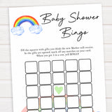 Rainbow baby games, rainbow baby bingo, rainbow printable baby games, instant download games, rainbow baby shower, printable baby games, fun baby games, popular baby games, top 10 baby games
