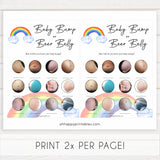 Rainbow baby games, rainbow baby bump or beer belly, rainbow printable baby games, instant download games, rainbow baby shower, printable baby games, fun baby games, popular baby games, top 10 baby games