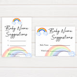 Rainbow baby games, rainbow baby name suggestions, rainbow printable baby games, instant download games, rainbow baby shower, printable baby games, fun baby games, popular baby games, top 10 baby games