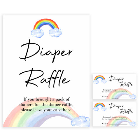 Rainbow baby games, rainbow diaper raffle, rainbow printable baby games, instant download games, rainbow baby shower, printable baby games, fun baby games, popular baby games, top 10 baby games
