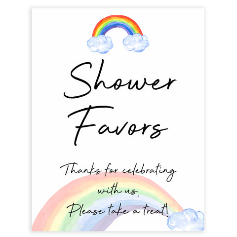 rainbow baby shower, shower favours, baby favors baby shower sign, printable baby signs, baby signs, top 10 baby ideas, popular baby ideas