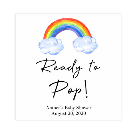 rainbow ready to pop tags, printable baby tags, rainbow baby shower, editable ready to pop tags, fun baby decor, printable baby decor