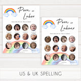 Rainbow baby games, rainbow porn or labour, labor or porn, rainbow printable baby games, instant download games, rainbow baby shower, printable baby games, fun baby games, popular baby games, top 10 baby games