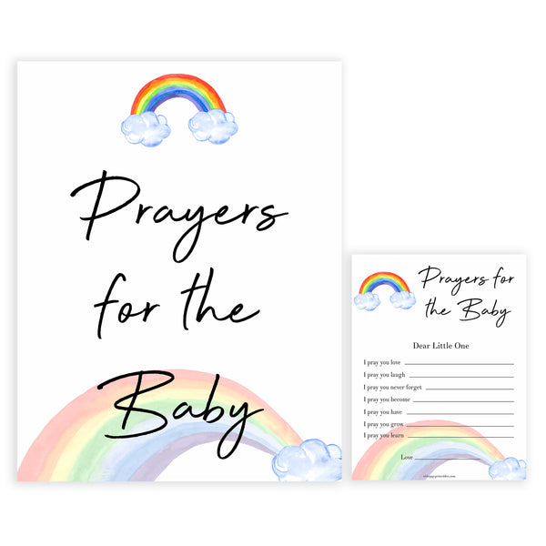 Rainbow baby games, rainbow prayers for the baby, rainbow printable baby games, instant download games, rainbow baby shower, printable baby games, fun baby games, popular baby games, top 10 baby games