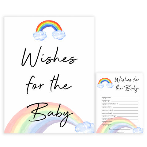 Rainbow baby games, rainbow wishes for the baby, rainbow printable baby games, instant download games, rainbow baby shower, printable baby games, fun baby games, popular baby games, top 10 baby games