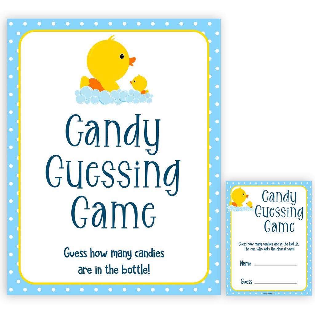 photo about Rubber Ducky Printable referred to as Sweet Guessing Sport - Rubber Ducky Printable Child Shower