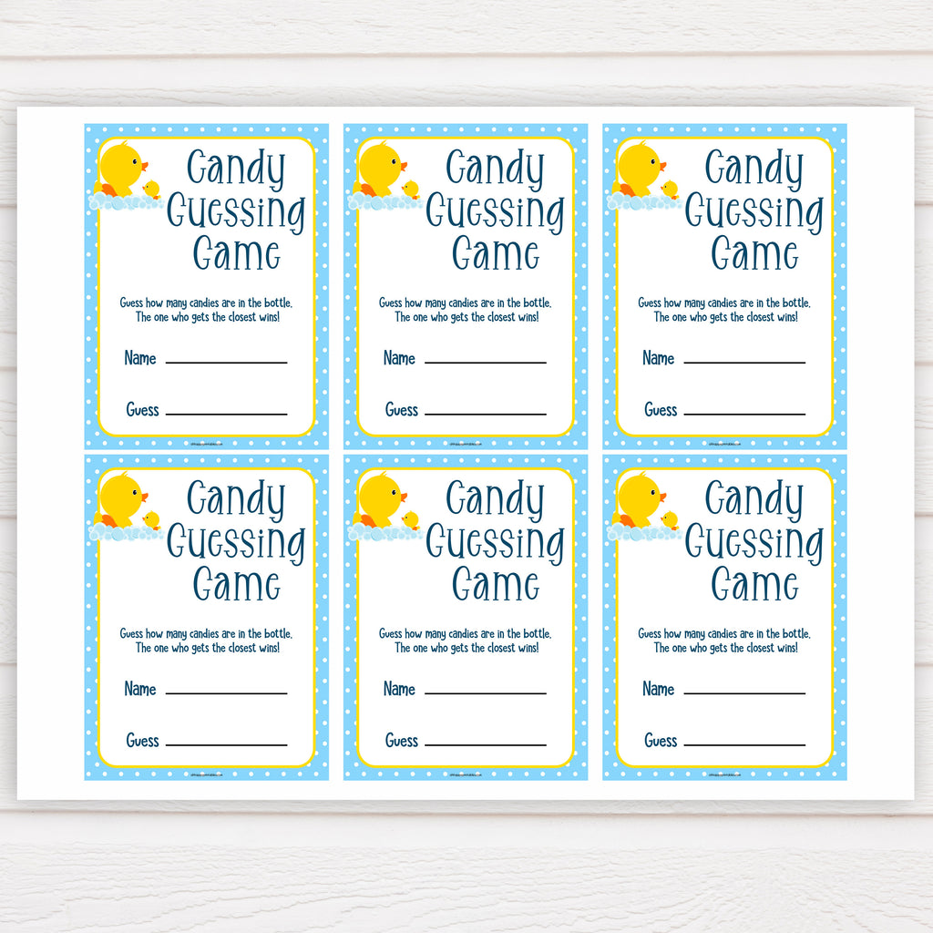 image regarding Guess Who Game Printable titled Sweet Guessing Recreation - Rubber Ducky Printable Little one Shower