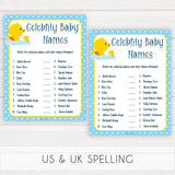 rubber ducky baby games, celebrity baby names baby game, printable baby games, baby shower games, rubber ducky baby theme, fun baby games, popular baby games