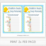 rubber ducky baby games, childrens books emoji pictionary baby game, printable baby games, baby shower games, rubber ducky baby theme, fun baby games, popular baby games