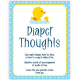 rubber ducky baby games, diaper thoughts baby game, printable baby games, baby shower games, rubber ducky baby theme, fun baby games, popular baby games
