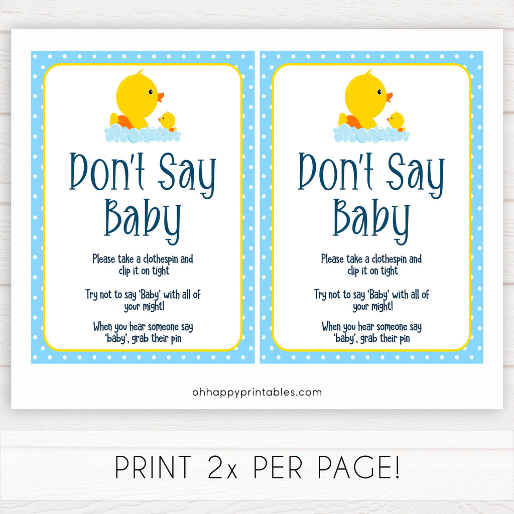 graphic regarding Free Don't Say Baby Printable referred to as Dont Say Child Activity - Rubber Ducky Printable Kid Video games