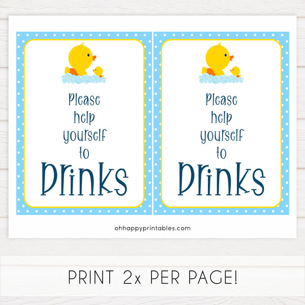 rubber ducky baby signs, drinks baby signs, printable baby signs, baby decor, fun baby decor, rubber ducky