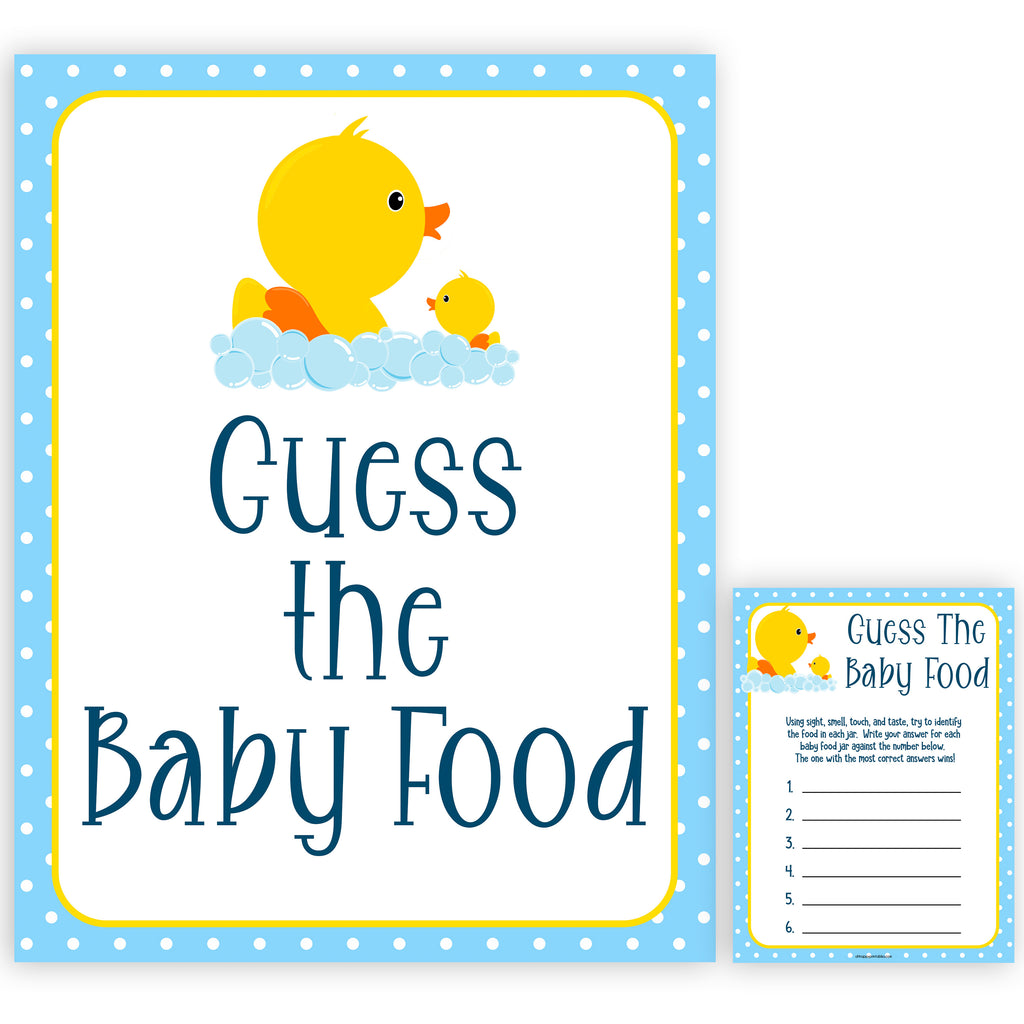 image regarding Rubber Ducky Printable known as Bet The Little one Meals Video game - Rubber Ducky Printable Boy or girl