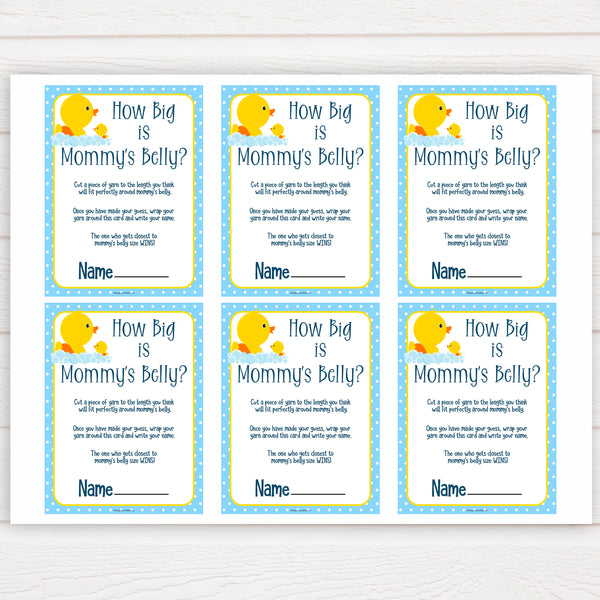 rubber ducky baby games, how big is mommys belly baby game, printable baby games, baby shower games, rubber ducky baby theme, fun baby games, popular baby games