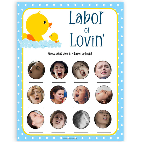 rubber ducky baby games, labour or lovin, labor or lovin, labor or porn baby game, printable baby games, baby shower games, rubber ducky baby theme, fun baby games, popular baby games