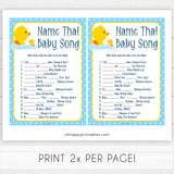rubber ducky baby games, name that baby song baby game, printable baby games, baby shower games, rubber ducky baby theme, fun baby games, popular baby games