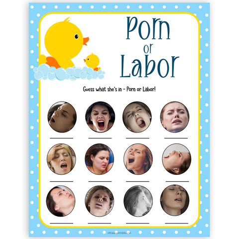 rubber ducky baby games, porn or labour, porn ir labor, sex face, labor or pornac baby game, printable baby games, baby shower games, rubber ducky baby theme, fun baby games, popular baby games