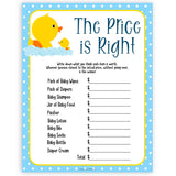 rubber ducky baby games, the price is right baby game, printable baby games, baby shower games, rubber ducky baby theme, fun baby games, popular baby games