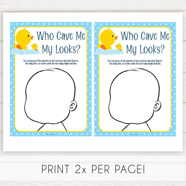 rubber ducky baby games, who gave me my looks, baby looks baby game, printable baby games, baby shower games, rubber ducky baby theme, fun baby games, popular baby games