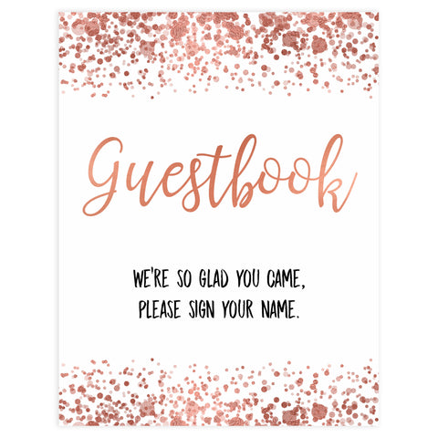 guestbook baby tables signs, guestbook baby signs, Rose gold baby decor, printable baby table signs, printable baby decor, rose gold table signs, fun baby signs, rose gold fun baby table signs