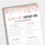 Bachelorette Scavenger Hunt Rose Gold