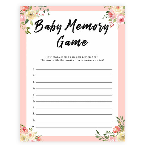 Baby Memory Game