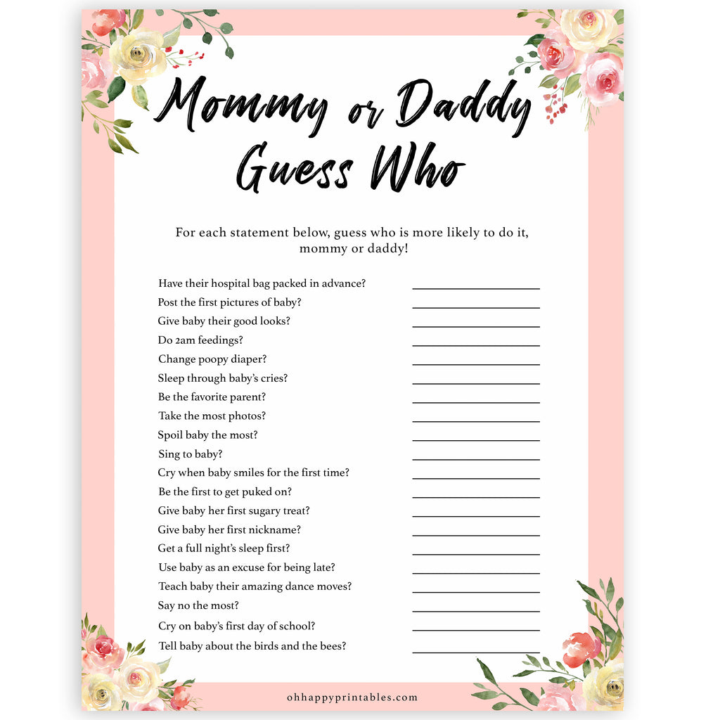 It's just an image of Guess Who Mommy or Daddy Free Printable with regard to starts letter