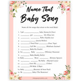 spring floral name that baby song baby shower games, printable baby shower games, fun baby shower games, baby shower games, popular baby shower games
