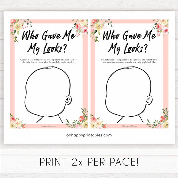 spring floral gave me my looks baby shower games, printable baby shower games, fun baby shower games, baby shower games, popular baby shower games