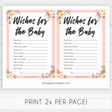 spring floral wishes for the baby baby shower games, printable baby shower games, fun baby shower games, baby shower games, popular baby shower games