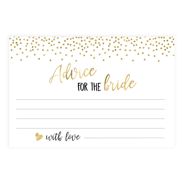 Advice for the Bride Cards - Gold Foil
