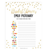 Bridal Emoji Pictionary - Gold Foil