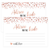 Advice for the Bride Cards - Rose Gold Foil