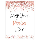 Drop your Panties Printable Game - Rose Gold