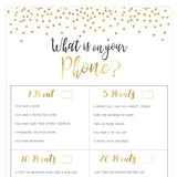 What's on Your Phone - Gold Foil