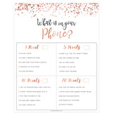 What's on Your Phone - Rose Gold Foil