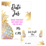 Date Night Jar Bridal Game - Gold Pineapple