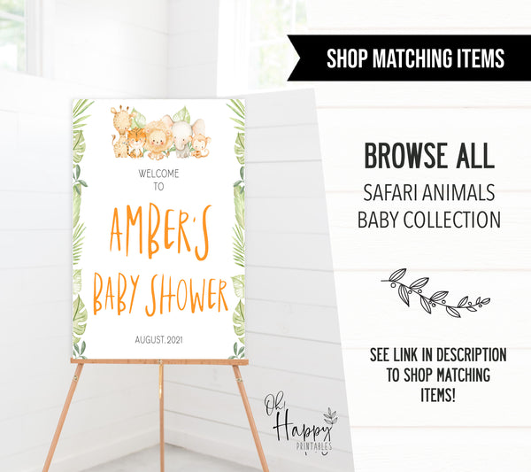 baby shower table signs bundle, Safari animals baby decor, printable baby table signs, printable baby decor, baby safari animals table signs, fun baby signs, baby safari animals fun baby table signs