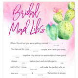 Bridal Mad Libs Game - Fiesta