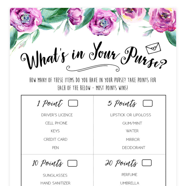 What's In Your Purse - Purple Peonies