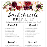 Bachelorette Drink If Game - White Marsala