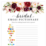 Bridal Emoji Pictionary - White Marsala