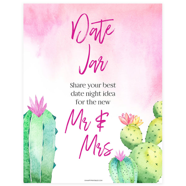 Date Night Jar Bridal Game - Fiesta