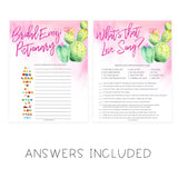 4 Bridal Shower Games Bundle - Fiesta