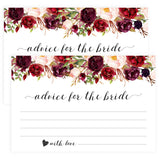 Advice for the Bride Cards - White Marsala