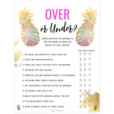 Over or Under Bridal Game - Gold Pineapple